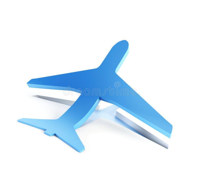 O avião simbólico descola ilustração do vetor
