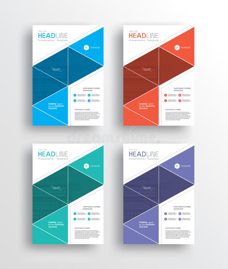 o aviador /brochure/poster/ do mercado do negócio e o relatório projetam o molde ilustração stock