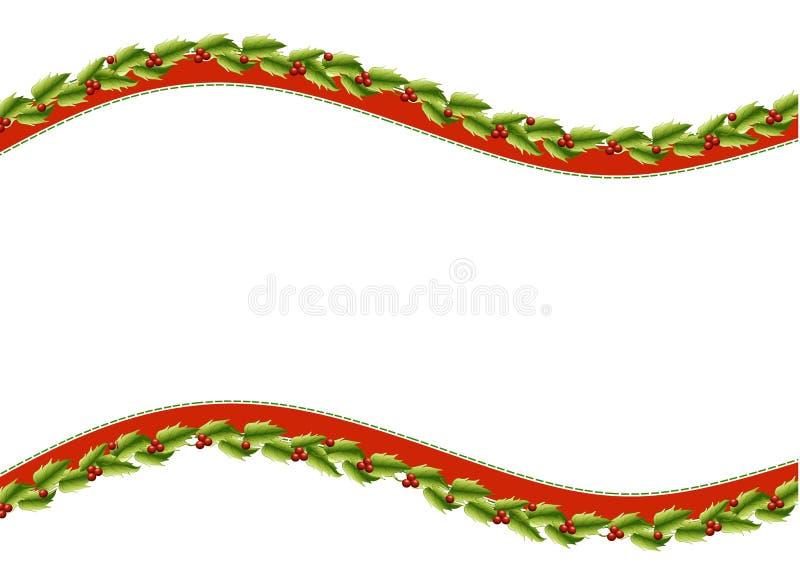 O azevinho curva a beira de Swoosh ilustração royalty free