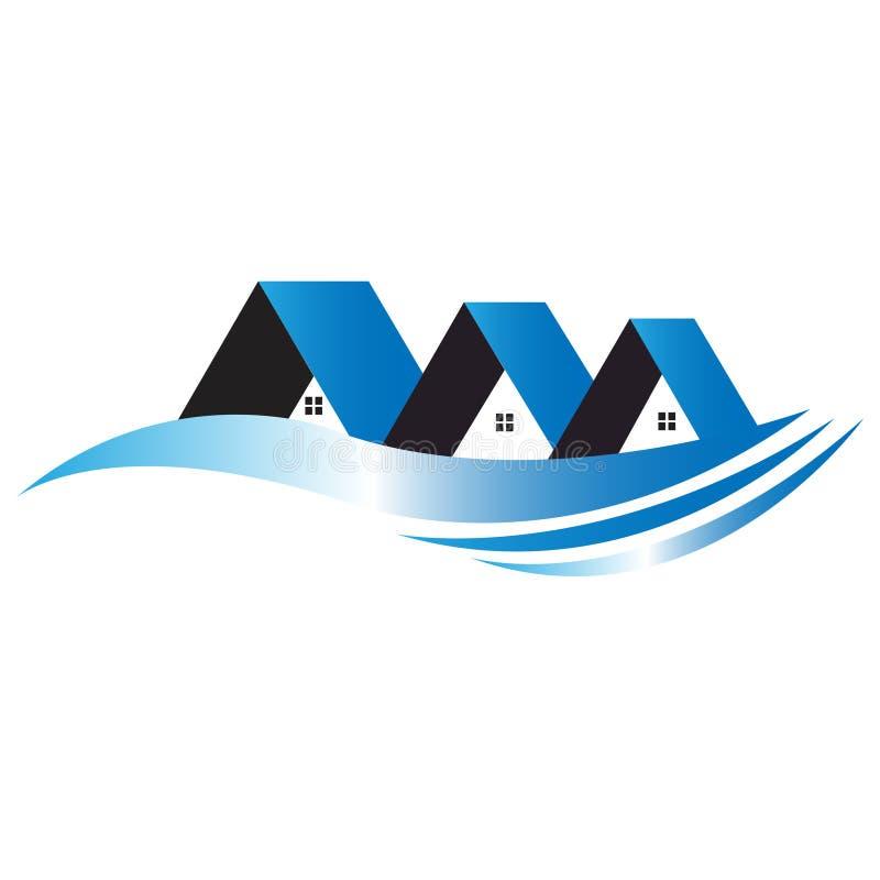 O azul abriga o logotipo ilustração royalty free