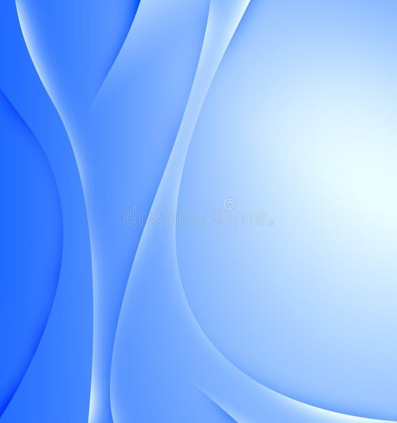 O azul abstrato acena o fundo foto de stock
