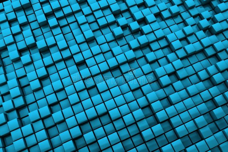 O azul abstrato cuba o fundo - grande distância ilustração stock