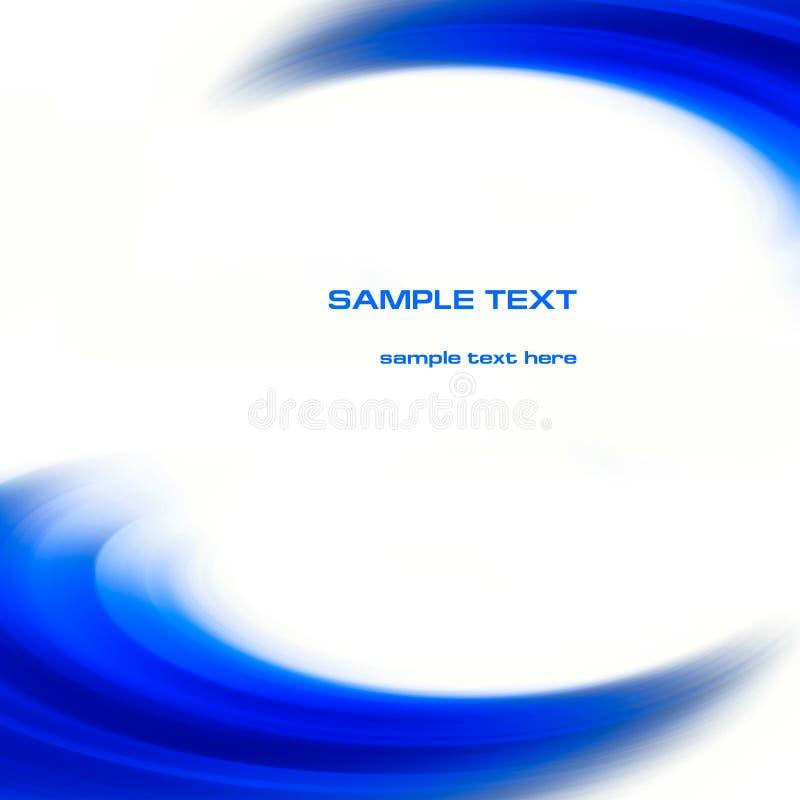 O azul abstrato curva o fundo ilustração stock