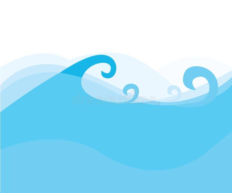 O azul acena a textura da água