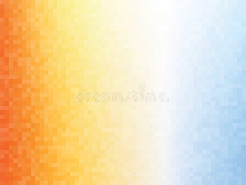 O azul alaranjado esquadra o fundo do mosaico ilustração stock