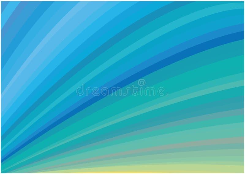 O azul brilhante abstrato curva o fundo ilustração do vetor