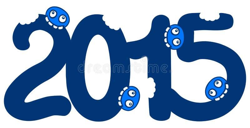 O azul come 2015 ilustração royalty free