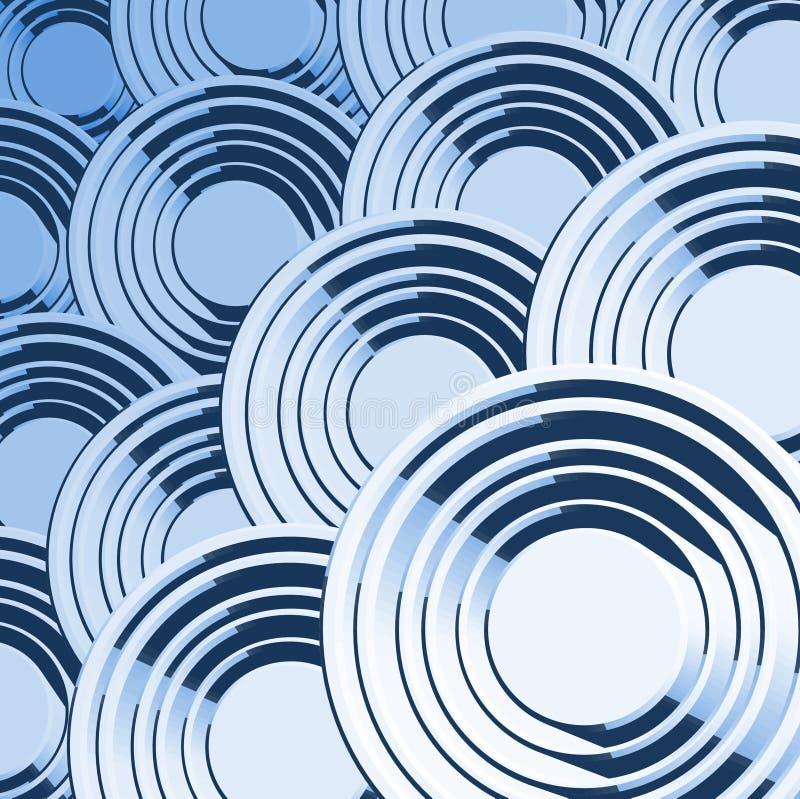 O azul creativo circunda a composição ilustração stock