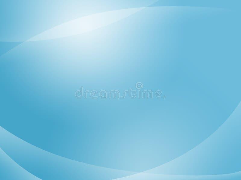 O azul curva o fundo ilustração do vetor