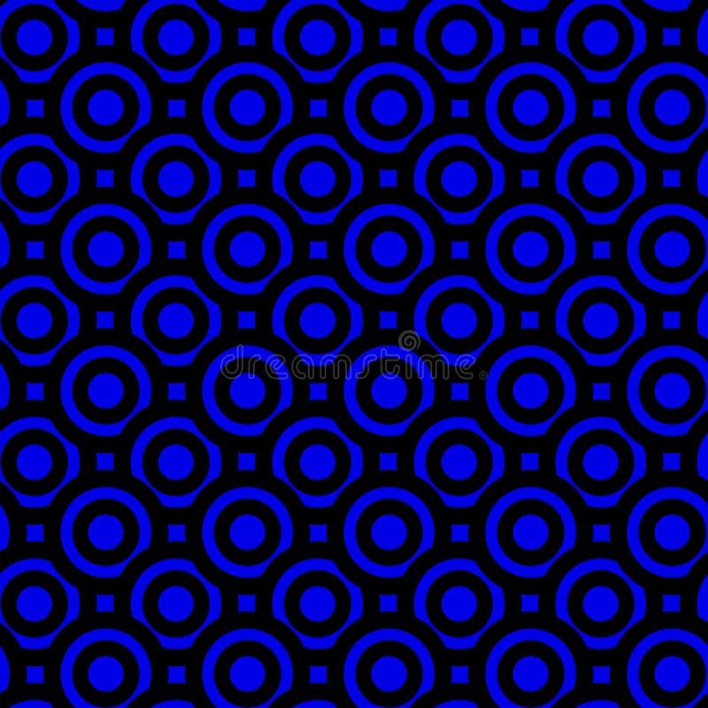 O azul da noite circunda a textura sem emenda ilustração stock