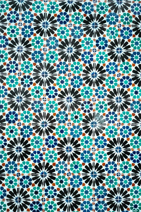 O azul decorativo português ornamentado tradicional coloriu azulejos das telhas fotos de stock