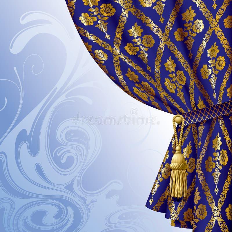 O azul drapeja ilustração do vetor
