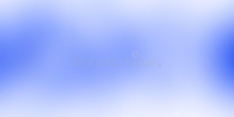 O azul e o branco borraram o papel de parede protegido do fundo ilustração vívida do vetor da cor ilustração stock