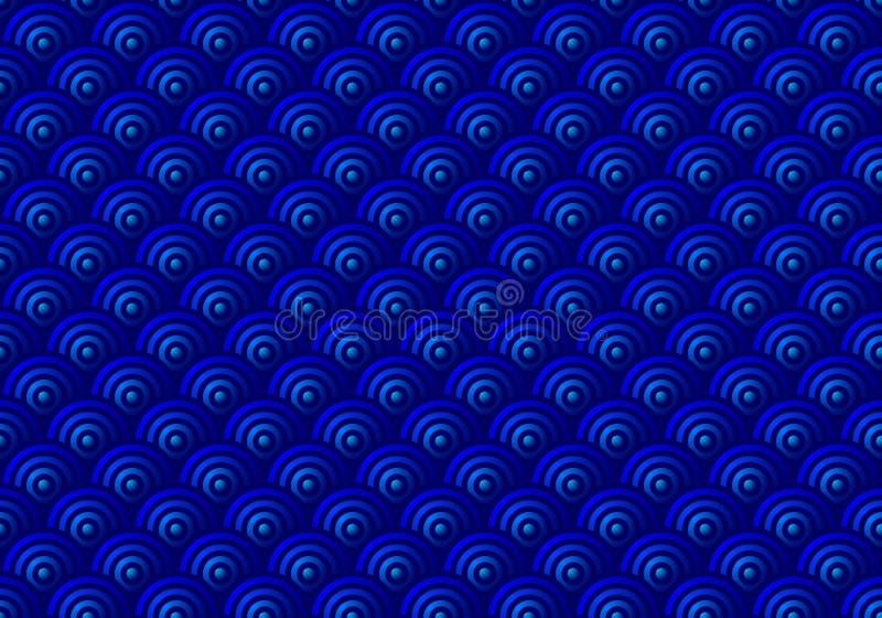 O azul escala o teste padrão sem emenda ilustração do vetor