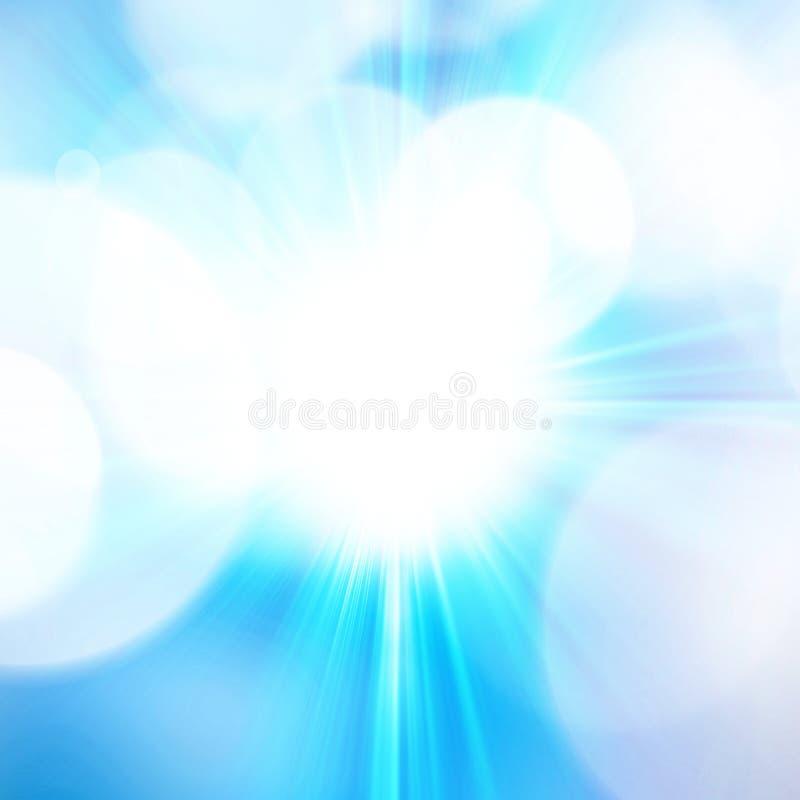 O azul estourou o fundo abstrato ilustração do vetor