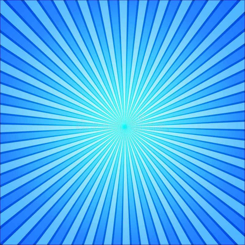 O azul irradia o fundo do pop art illustrat cômico retro do vetor do estilo ilustração stock