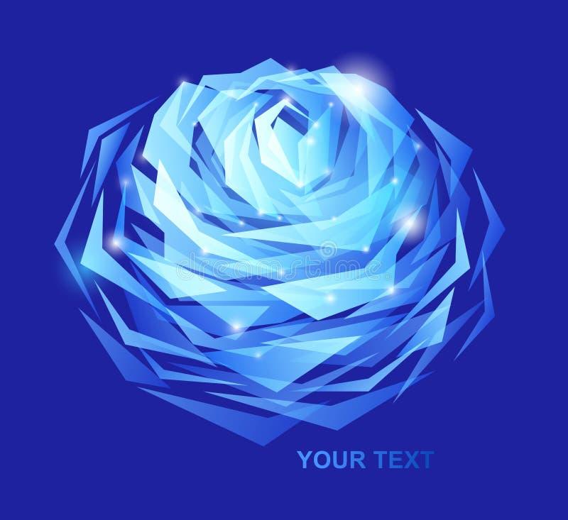 O azul levantou-se ilustração royalty free