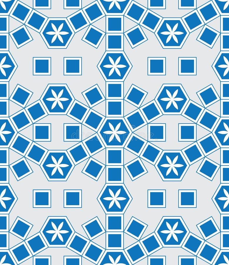 O azul moderno de Mosaico Le Domus Tomane estende o teste padrão sem emenda ilustração stock