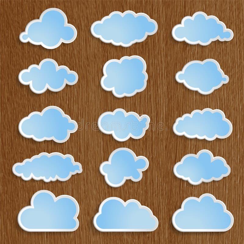 O azul nubla-se a coleção ilustração do vetor