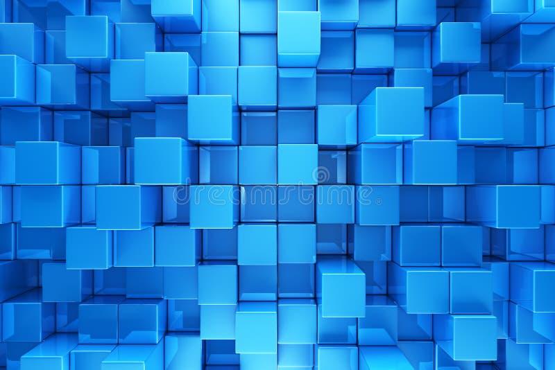 O azul obstrui o fundo ilustração stock