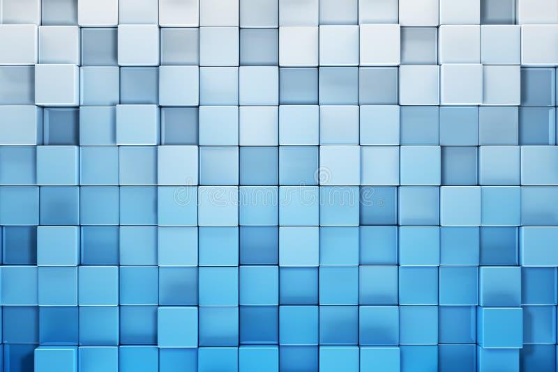 O azul obstrui o fundo abstrato ilustração stock