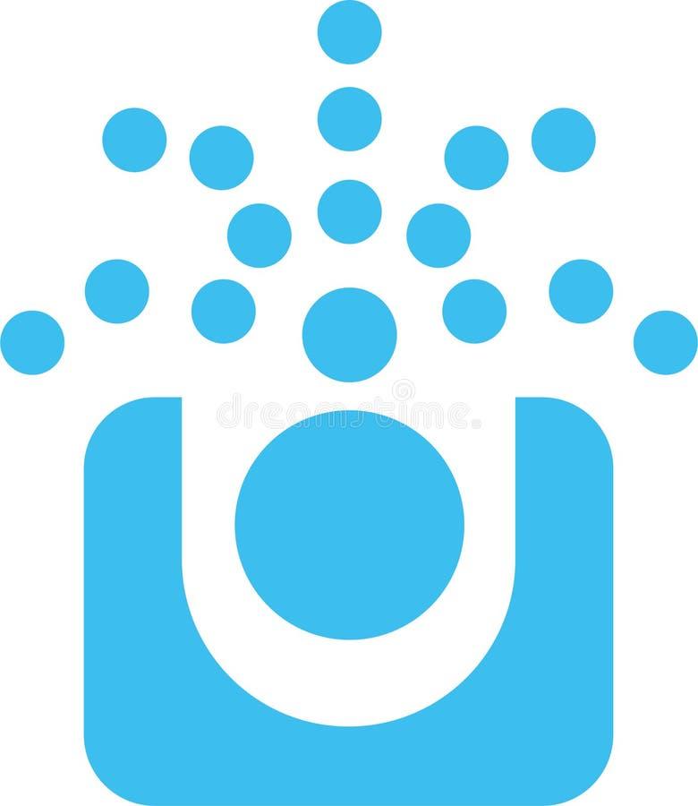 O azul pontilha o logotipo imagens de stock