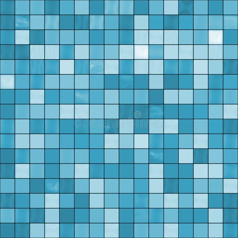 O azul sem emenda telha o fundo. ilustração royalty free