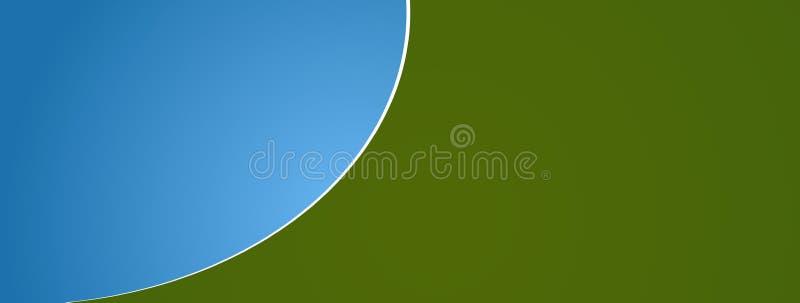O azul verde abstrato arredondou o fundo 3d-illustration ilustração stock