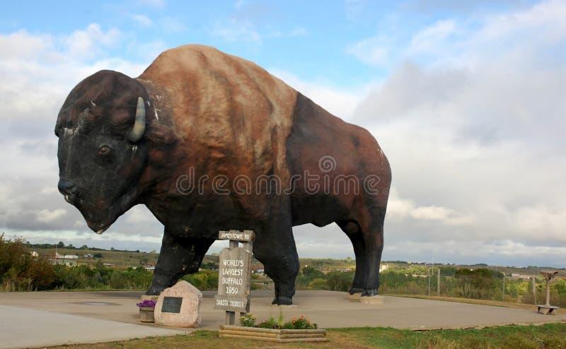 O búfalo o maior do mundo, N.Dakota fotografia de stock royalty free