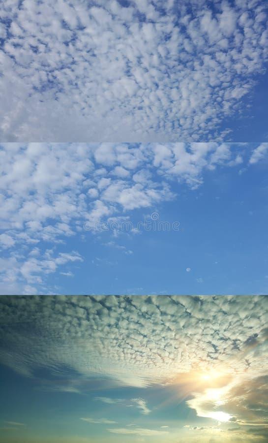O backgound bonito do céu nebuloso mura naturalmente o ideal da textura para o uso imagens de stock royalty free