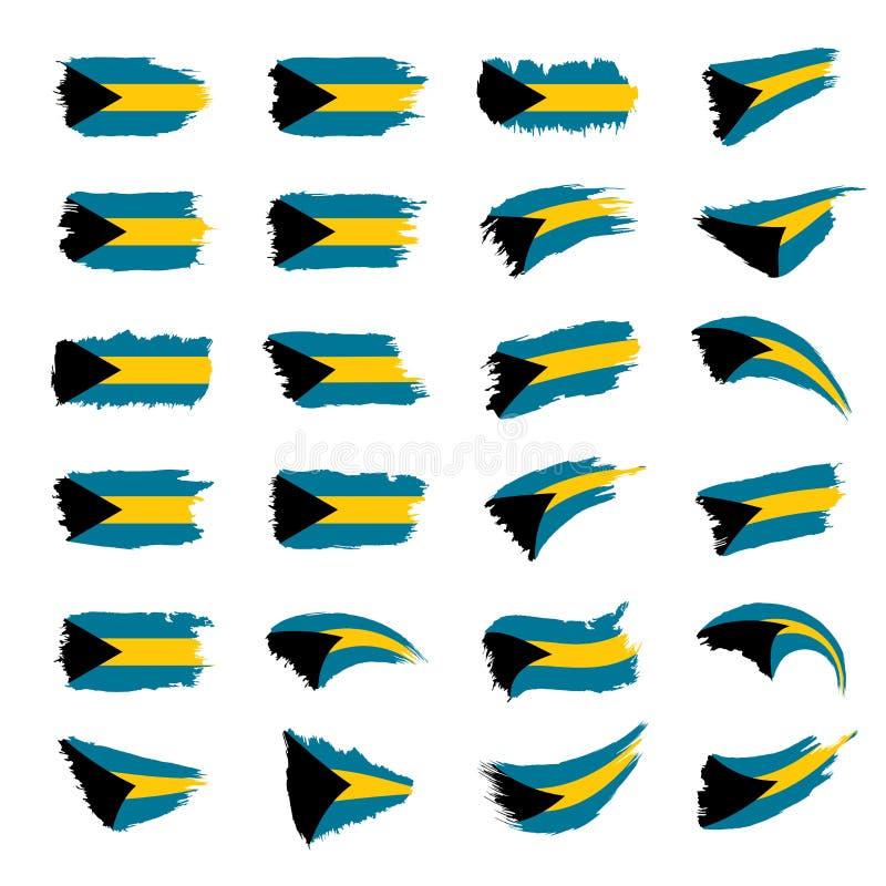 O Bahamas embandeira, vector a ilustração ilustração do vetor