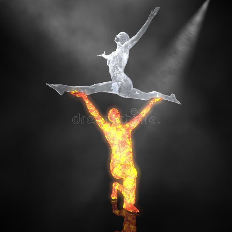 O bailado do incêndio e do gelo - 01 fotos de stock