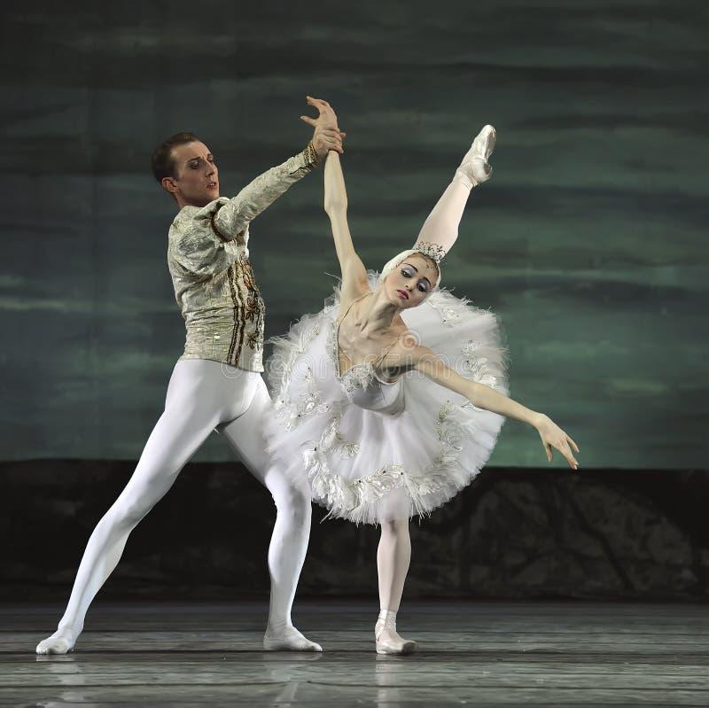O bailado do lago swan executou pelo bailado real russian fotos de stock royalty free