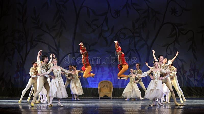O bailado do lago swan executou pelo bailado real russian foto de stock royalty free