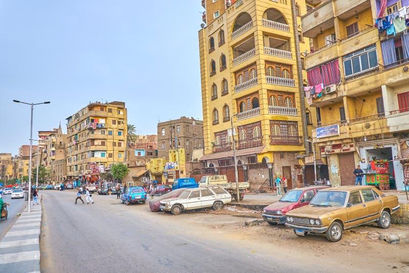 O bairro pobre do Cairo, Egito imagens de stock royalty free