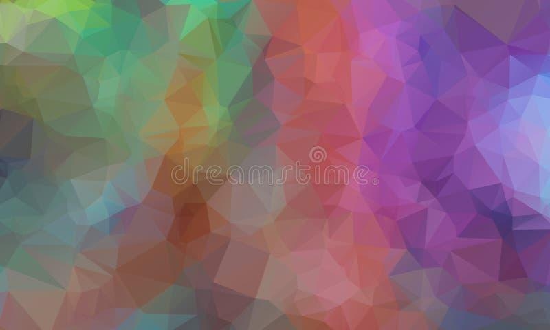 O baixo origâmi poli triangular emaranhado geométrico multicolorido denomina o fundo do gráfico da ilustração do inclinação ilustração stock