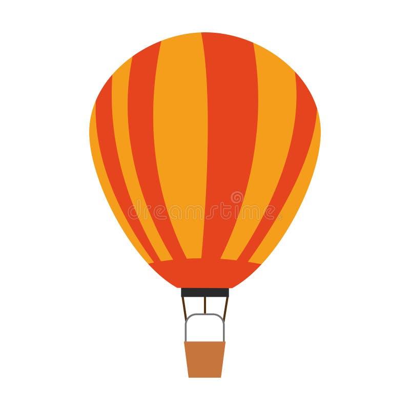 O balão de ar quente photgrphed no Bealton, mostra de ar do circo do vôo do VA ilustração stock