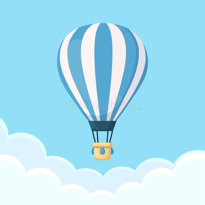 O balão de ar quente photgrphed no Bealton, mostra de ar do circo do vôo do VA ilustração royalty free