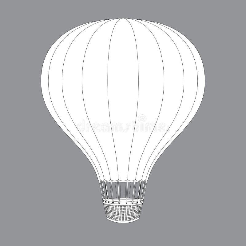 O balão de ar quente photgrphed no Bealton, mostra de ar do circo do vôo do VA Desenhos do contorno para o projeto da cor ilustração royalty free