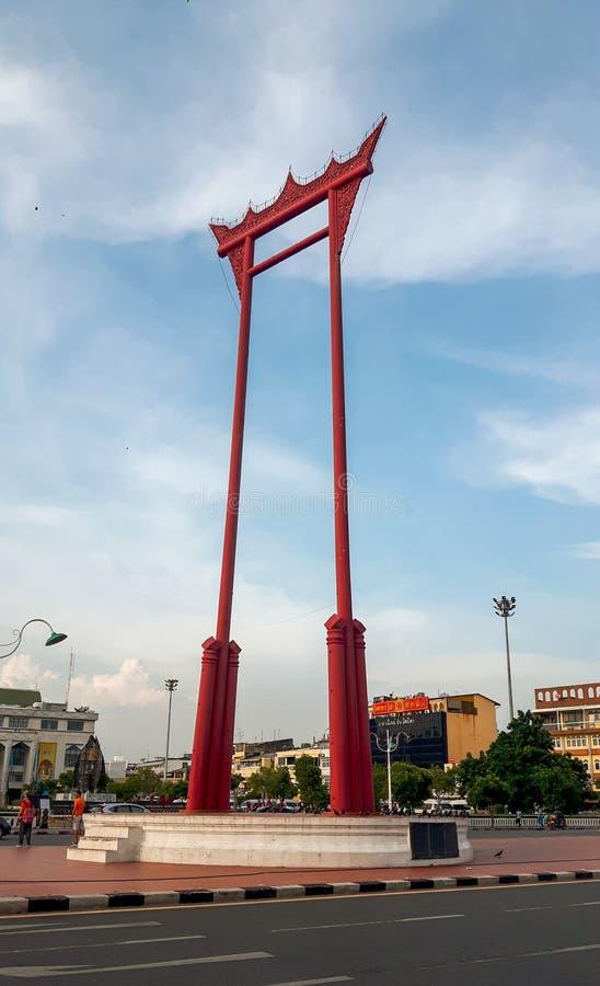 O balanço gigante em Banguecoque imagens de stock royalty free