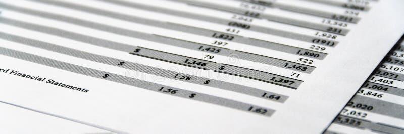 O balanço no livro de relatório do acionista, balanço explicando é modelo foto de stock