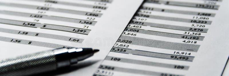 O balanço no livro de relatório do acionista, balanço explicando é modelo imagem de stock royalty free