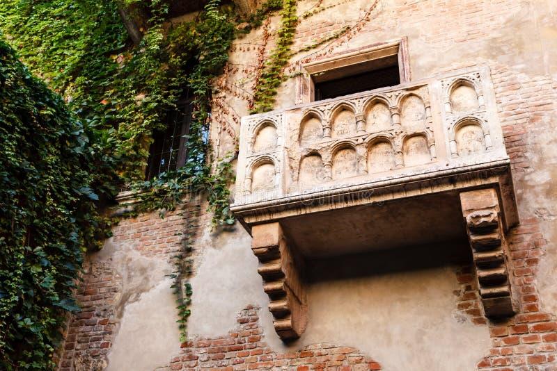 O balcão famoso da HOME de Juliet Capulet fotografia de stock
