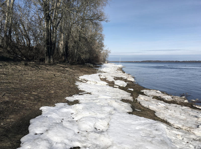 O banco do rio Volga fotos de stock
