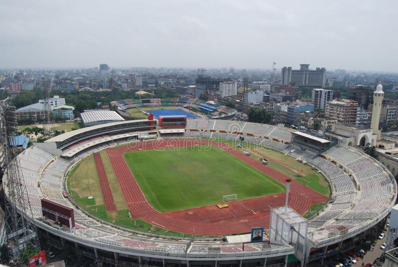 O Bangabandhu National Stadium em Dhaka bangladesh imagem de stock
