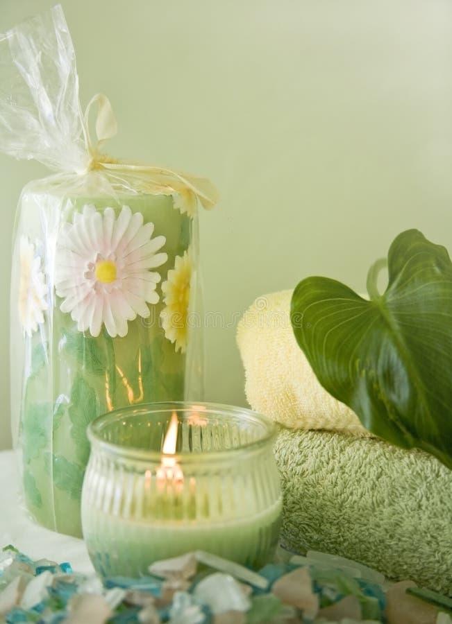 O banho ideal objeta o recuo dos termas foto de stock