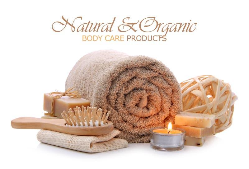 O banho, a sauna e o corpo naturais importam-se produtos fotografia de stock