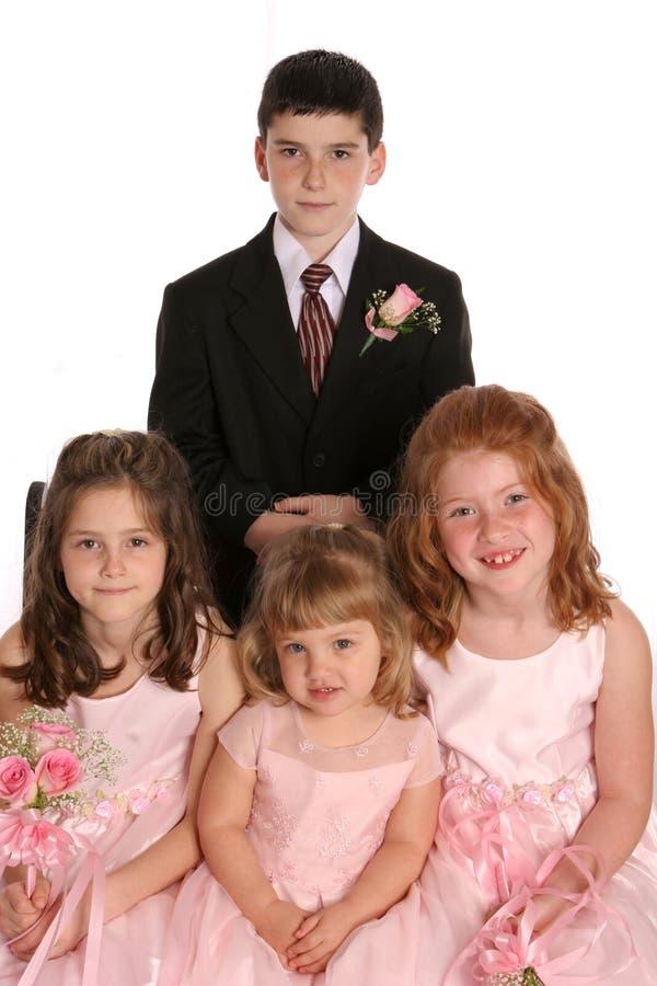 O banquete de casamento caçoa distante imagens de stock