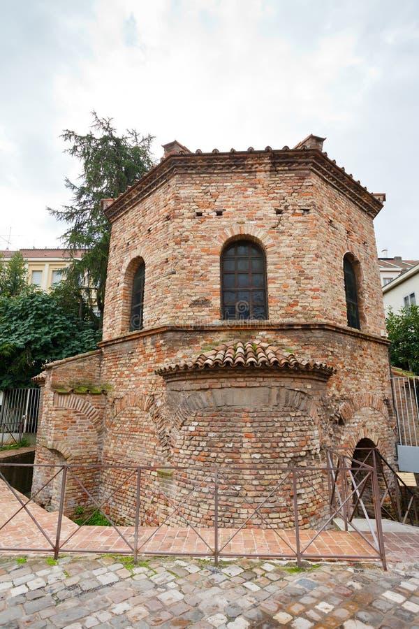 O Baptistery do Arian em Ravenna, Italia fotos de stock