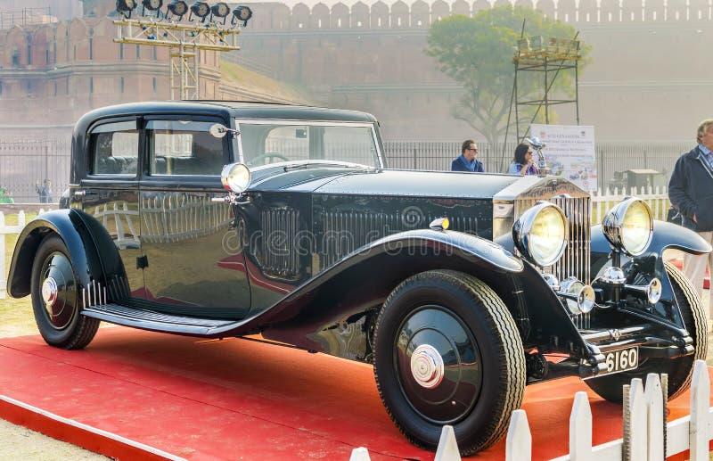 O bar clássico do vintage de Rolls Royce Phantom III fotografia de stock